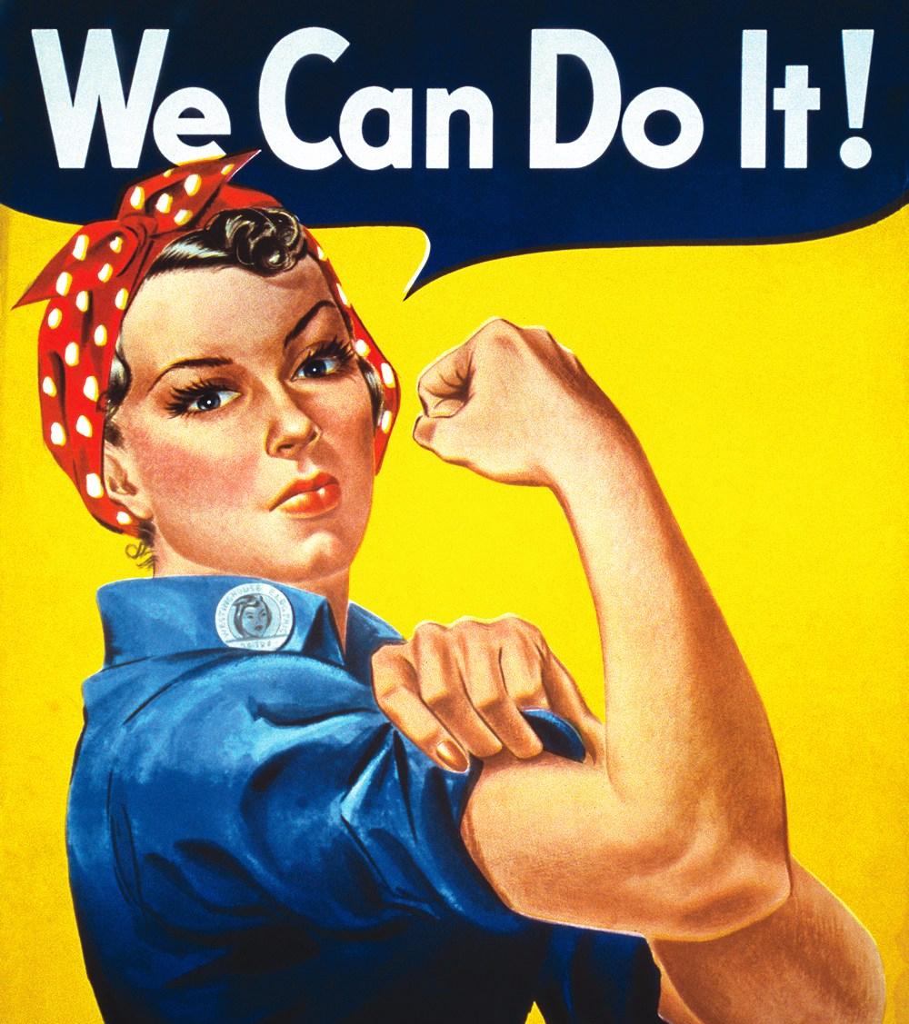 girlboss, we can do it, red bandana, girls, queens