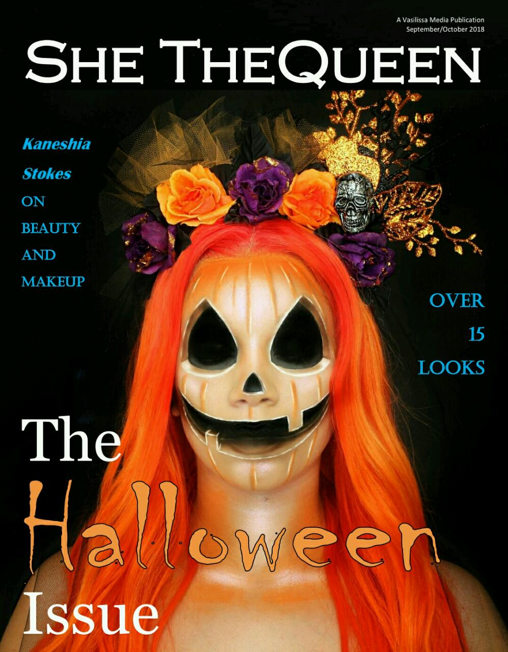 she thequeen, she thequeen magazine, blogger magazine, lifestyle magazine, halloween magazine, halloween, christmas issue, september october issue, magazines, kaneshia stokes, kaneshia sana